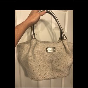 Georgeous Kate Spade  wool bag with rhinestones